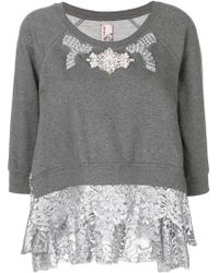 Antonio Marras - Embellished Lace Trim Sweater - Lyst