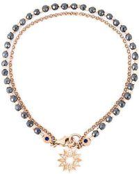 "Astley Clarke - Bracelet ""Sun Biography"" en or rose 14ct, argent Sterling, diamants et hématites - Lyst"