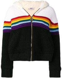 Gcds - Faux Fur Lined Zip-up Cardigan - Lyst