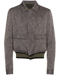 Haider Ackermann - Floral Print Wool And Cotton Blend Bomber Jacket - Lyst