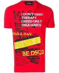 """DSquared² - T-Shirt mit """"I Don't Need Therapy""""-Print - Lyst"""