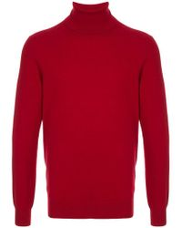 Laneus - Roll Neck Fitted Jumper - Lyst