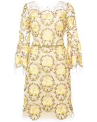 Notte by Marchesa - Floral Lace Dress - Lyst