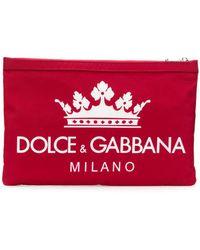 Dolce & Gabbana - Logo Envelop Clutch - Lyst