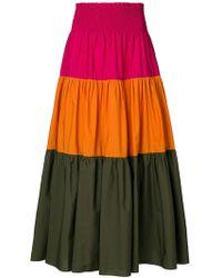 Pinko | Colour Block Skirt | Lyst