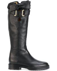 Valentino - Garavani Bow Wrap Boots - Lyst