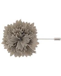 Lanvin - Textured Flower Brooch - Lyst