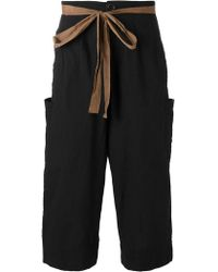 Ziggy Chen - Drawstring Cropped Pants - Lyst