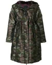 Tatras - Camouflage Empire Line Coat - Lyst