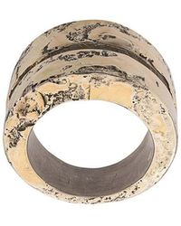 Parts Of 4 - Distressed Ring Bands - Lyst
