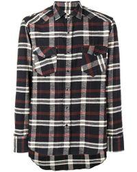 Salvatore Piccolo - Check Printed Shirt - Lyst