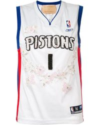 Night Market - Pistons Embroidered Nba Tank - Lyst