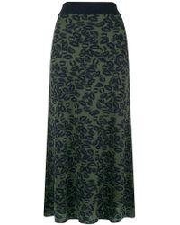 Sonia Rykiel - Lips Lurex Maxi Skirt - Lyst
