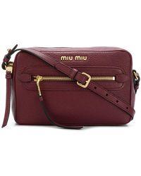 Miu Miu - Logo Camera Bag - Lyst