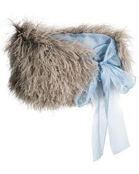 Prada - Ostrich Feather Shawl Scarf - Lyst