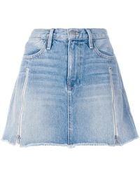 FRAME - A-line Denim Skirt - Lyst