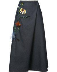Carolina Herrera - Floral Embellished Skirt - Lyst