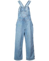 The Great - Embroidered Shop Overalls - Lyst