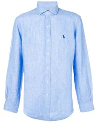 Polo Ralph Lauren - Embroidered Logo Shirt - Lyst