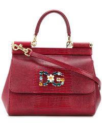 Dolce   Gabbana - Sicily Logo Plaque Tote - Lyst 40c3eb3c87b6c