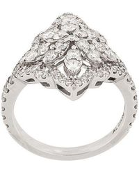 Monan - 18kt White Gold And Diamond Cocktail Ring - Lyst