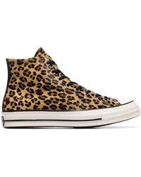 Converse Leopard Print Chuck Taylor 70's High-top Trainers