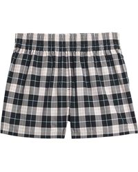 Burberry - Check Cotton High-waisted Shorts - Lyst