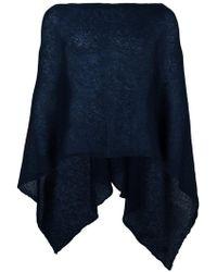 Al Duca d'Aosta - Al Duca D'aosta 1902 Semi-sheer Knitted Short Cape - Lyst