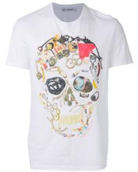 Alexander McQueen - Skull-print T-shirt - Lyst