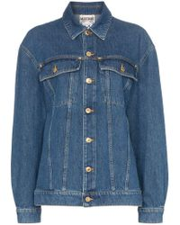 Moschino - Sequin Embellished Teddy Bear Denim Jacket - Lyst