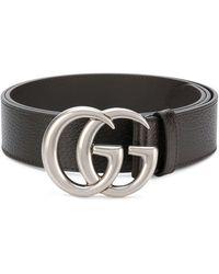 ecb3ff1d0 Gucci Star Buckle Belt in Black - Lyst