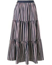 P.A.R.O.S.H. - Striped Tier Skirt - Lyst