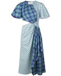 Prabal Gurung - Plaid Flutter Sleeve Dress - Lyst