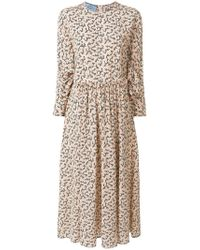 Prada - Flared Midi Dress - Lyst
