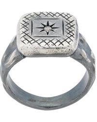 Bottega Veneta - Engraved Star Square Ring - Lyst