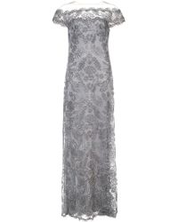 Tadashi Shoji - Floral Embroidered Off-the-shoulder Gown - Lyst