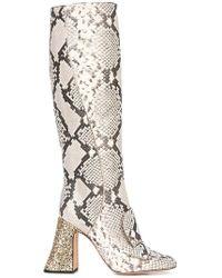 Rochas - Knee High Boots - Lyst
