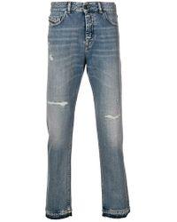 Diesel Black Gold - Cropped Slim Jeans - Lyst