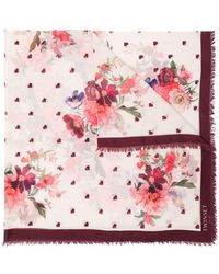 Twin Set - Heart And Floral Scarf - Lyst
