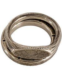 Werkstatt:münchen - Embossed Ring Set - Lyst