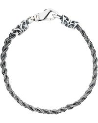 Emanuele Bicocchi - Thin Braided Bracelet - Lyst
