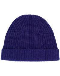 Cruciani - Rib Knit Beanie - Lyst