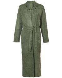 Eleventy - Long Belted Coat - Lyst