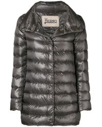 Herno - Funnel-neck Padded Coat - Lyst