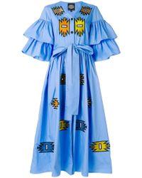 Katya Dobryakova - Ruffled Ornament Dress - Lyst