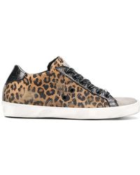Leather Crown - Warchive Leopard Print Trainers - Lyst