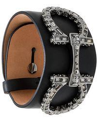 Ferragamo   Double Gancio Swarovski Bracelet   Lyst