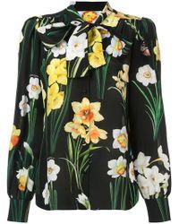 Dolce & Gabbana - Daffodil Printed Blouse - Lyst