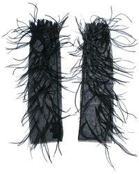 J. Mendel - Handschuhe mit Federn - Lyst