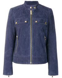 MICHAEL Michael Kors - Zipped Suede Jacket - Lyst